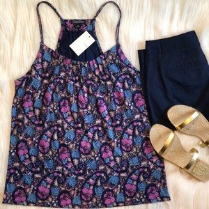 🍀 LUCKY BRAND FLORAL STRAPPY TANK TOP SIZE: M NWT